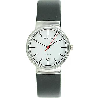 Bering ladies slim watch clock classic - 11029-404 leather