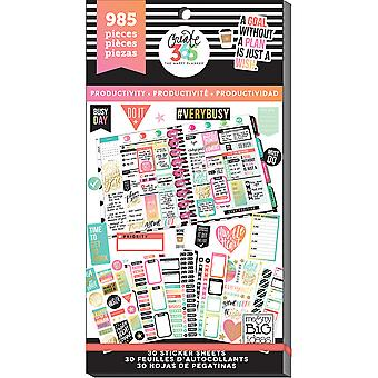 Create 365 Happy Planner Sticker Value Pack-Productivity PPSV-09