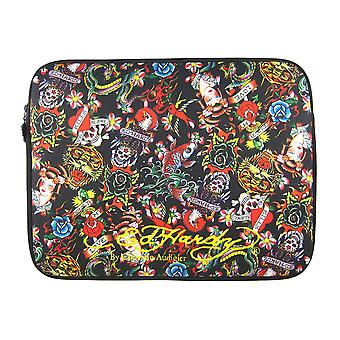 Black Bill Ed Hardy Laptop Sleeve All Over Collage