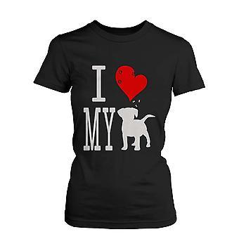 Podkoszulki na ramiączkach damskie Ładna grafika instrukcja - Kocham mój pies czarny Graphic Tee