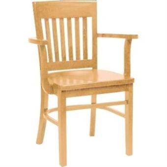 Hale Wood Kitchen Dining Chair With Arms Natural Beech Fully Assembled