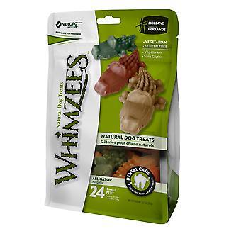 Whimzees Alligator små 24pk (pakke med 6)