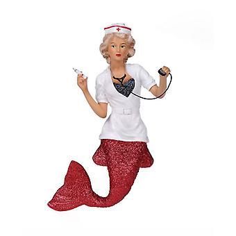 December diamanter Nurse uartig havfrue Christmas Holiday Ornament