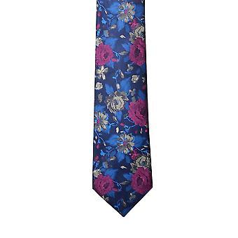 Corbata de seda Floral azul de Knightsbridge