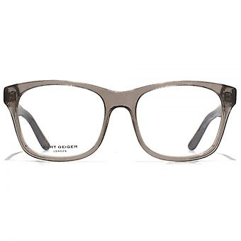 Kurt Geiger Savannah Retro Acetate Square Glasses In Crystal Grey