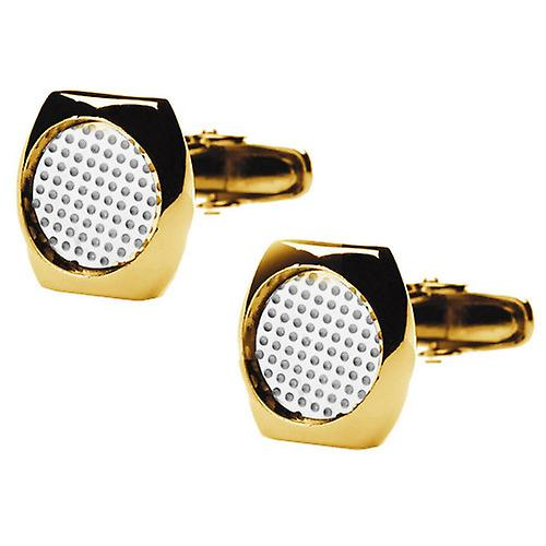 denisonboston Skimm Classic Superdot Cufflinks - Gold