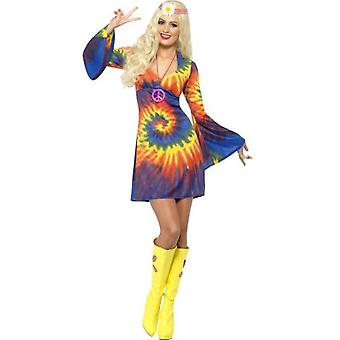 Smiffys 1960S Tie Dye Costume Psychedelic With Dress (Costumes)