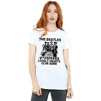 Beatles Women's Lonely Hearts Club Band kæreste Fit T-Shirt