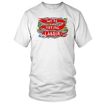 We're Voting Labour Corbyn Politics Momentum Kids T Shirt
