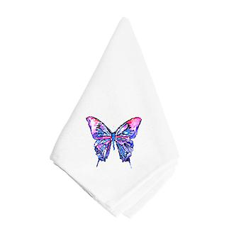 Carolines Treasures  8859NAP Pink and Purple Butterfly Napkin