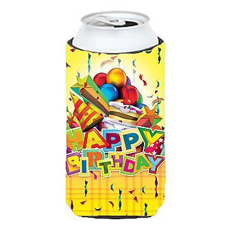 Happy Birthday Party Tall Boy beverage insulator Hugger