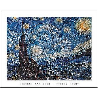 Starry Night Poster Print by Vincent Van Gogh (28 x 22)