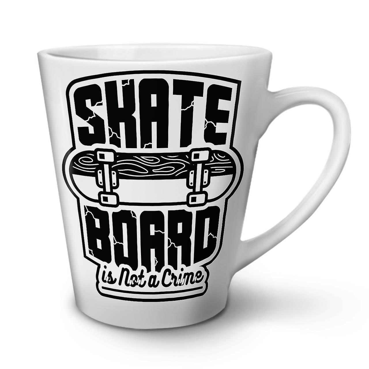 Bord Skate Tasse Latte Nouvelle Blanche Café Céramique 12 OzWellcoda En tCQdxshrB