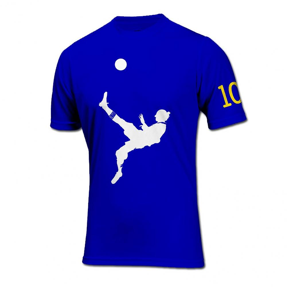 Zlatan Ibrahimovic Bicycle Kick Goal T-Shirt (Blue)