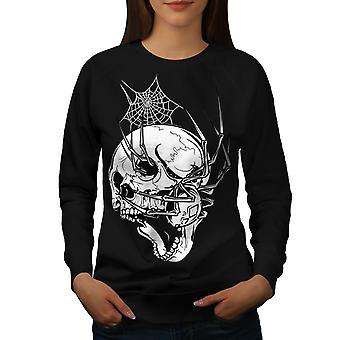 Spider skelet gamle kvinder BlackSweatshirt | Wellcoda