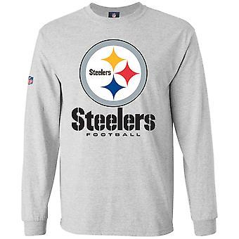 Majestic OUR TEAM Longsleeve - Pittsburgh Steelers grey