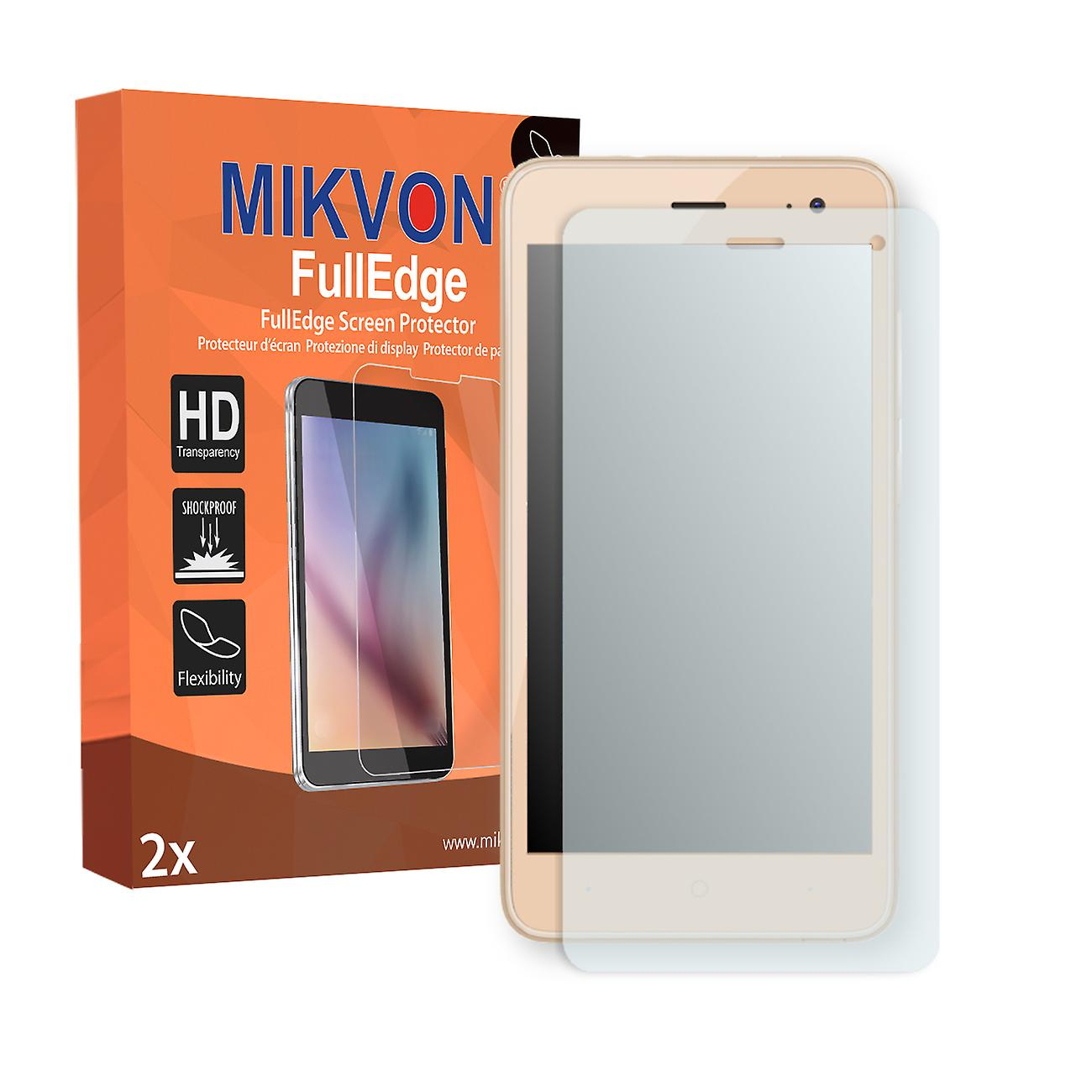 Wiko Jerry 2 screen protector - Mikvon FullEdge (screen protector with full protection and custom fit for the curved display)