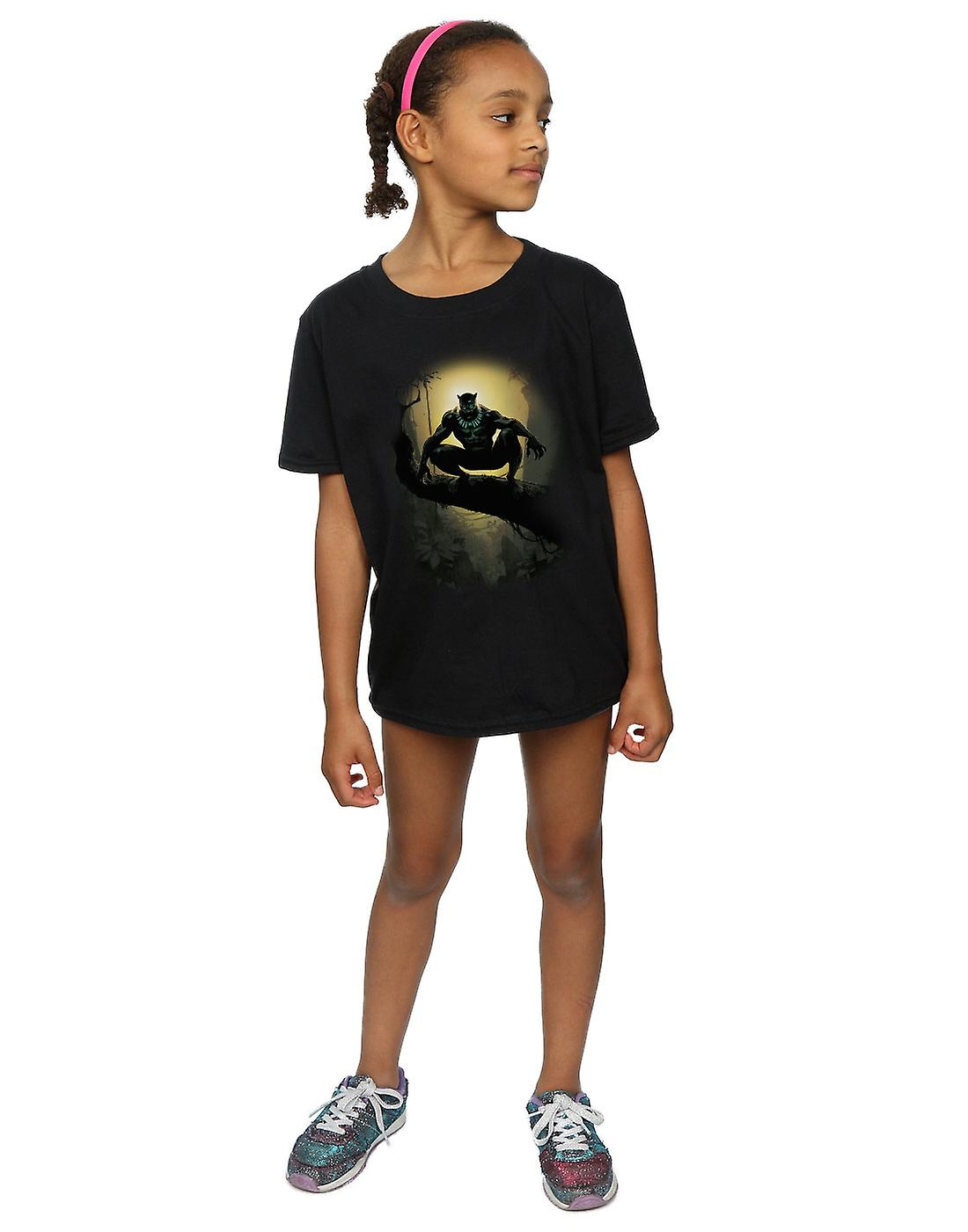 Merveille Girls Black Panther tribu masque T-Shirt