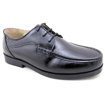 Mens Leather Wide Fit Moccasin Lace Up Dress Formal Shoes
