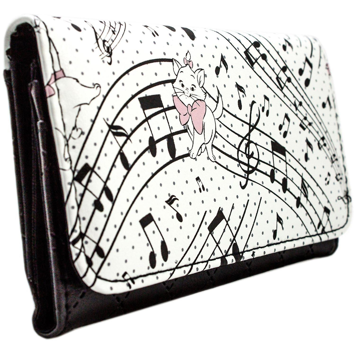 Aristocats Marie on Musical Notes Coin & Card Tri-Fold Purse