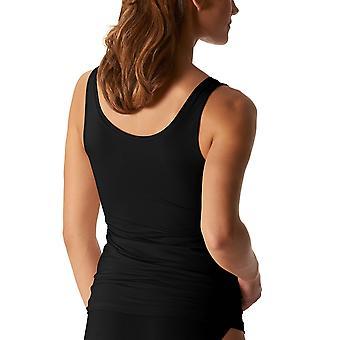 Mey 25816-3 Women's Organic White Solid Colour Tank Vest Top
