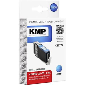 KMP Ink replaced Canon CLI-571C XL Compatible Cya