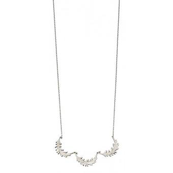 Elements Silver Triple Leaf Necklace - Silver