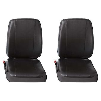 Two Single Commercial Leatherette Van Seat Covers Nissan Interstar 2002-2017