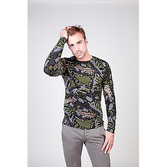 Cavalli Class Men Sweaters Green