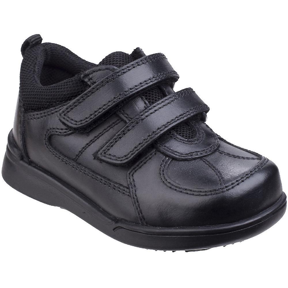 Hush Puppies garçons Liam Durable Back To School cuir intelligent chaussures