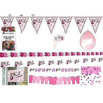 Fiesta paquete nacimiento las niñas rosa 68-teilig niños cumpleaños los niños partido