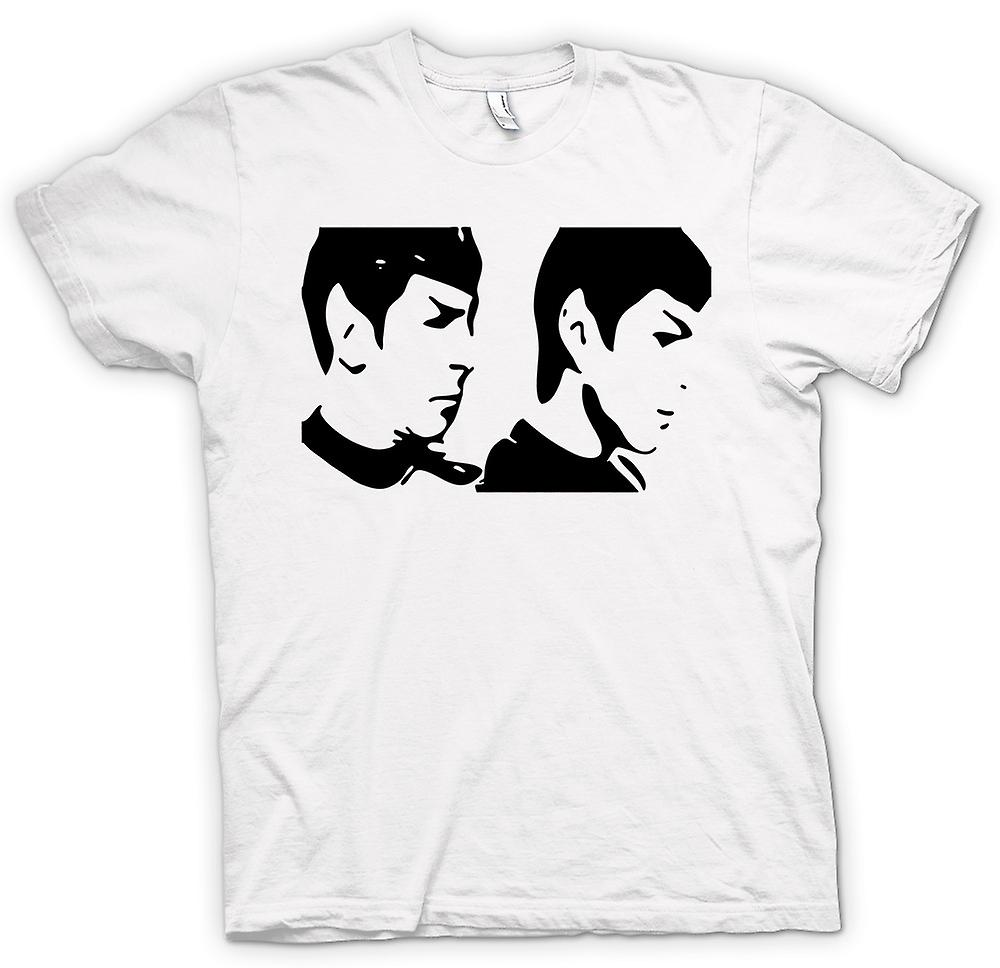 Womens T-shirt - Star Trek - jung und alt-Spock