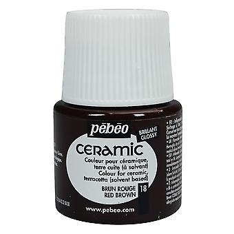 Pebeo Ceramic Paint 45ml (Red Brown)