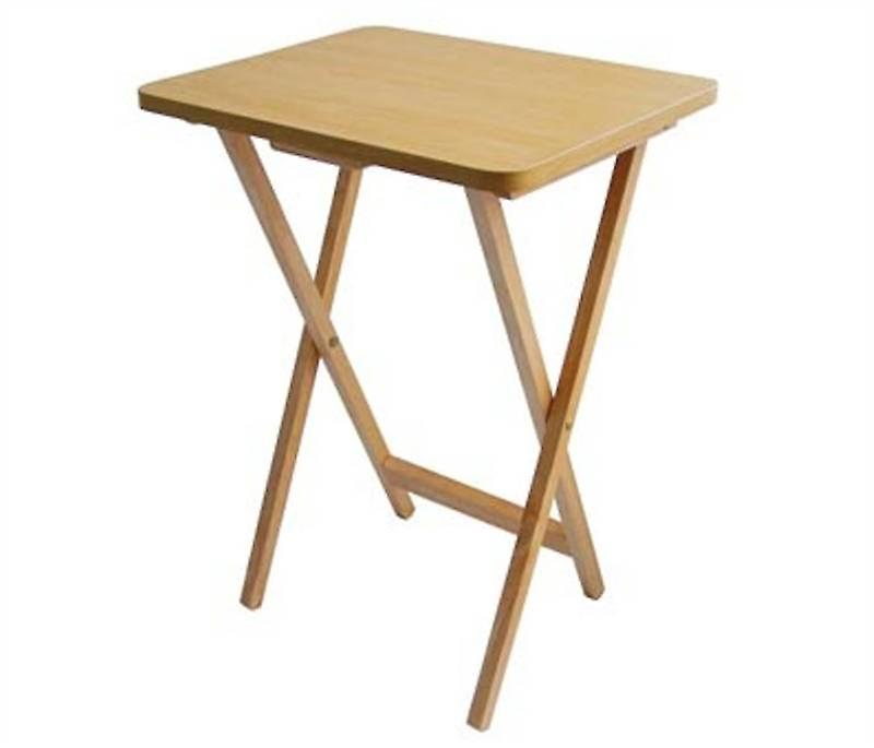 Natural Folding Snack Table