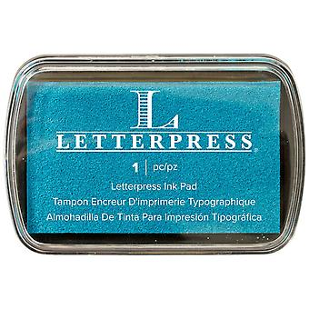 Letterpress Ink Pad-Blue