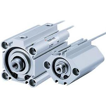 SMC Double Action Pneumatic Compact Cylinder 25Mm Bore, 30Mm Stroke
