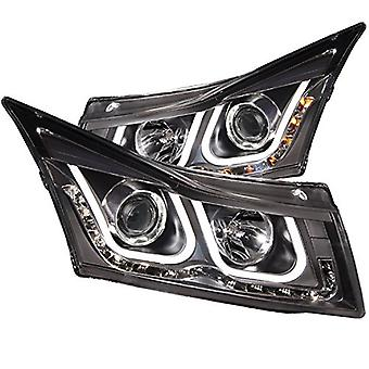 AnzoUSA 121462 Black/Clear Bar Style Projector Headlight for Chevrolet Cruze