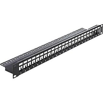 24 ports Network patch panel Delock 43277 Unequipped