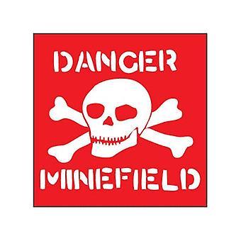 Danger Minefield Steel Wall Sign