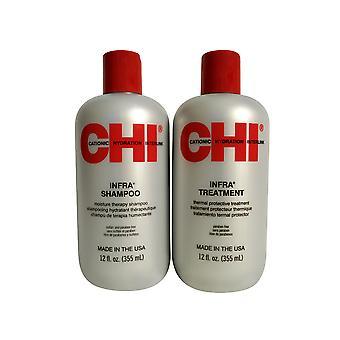 CHI Infra Shampoo & Treatment Set 12 OZ