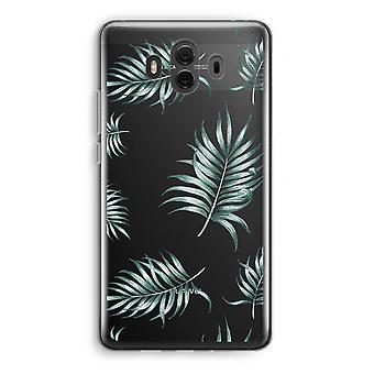 Huawei Mate 10 Transparent Case (Soft) - Simple leaves