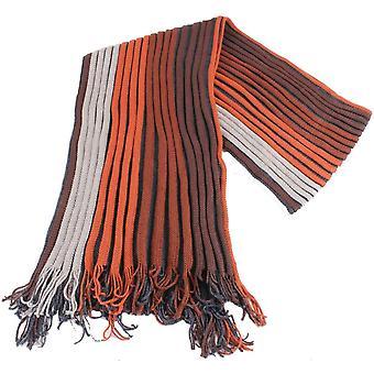 Bassin og brun Dalglish stripete ull skjerf - brun/Rust/grå
