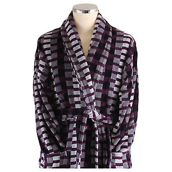 Bown di Londra Welshpool vestaglia geometrico - nero/grigio/viola