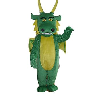 SPOTSOUND of green and yellow, giant dragon mascot