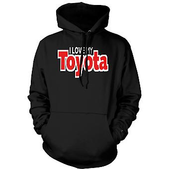 Mens Hoodie - I Love My Toyota - Car Enthusiast