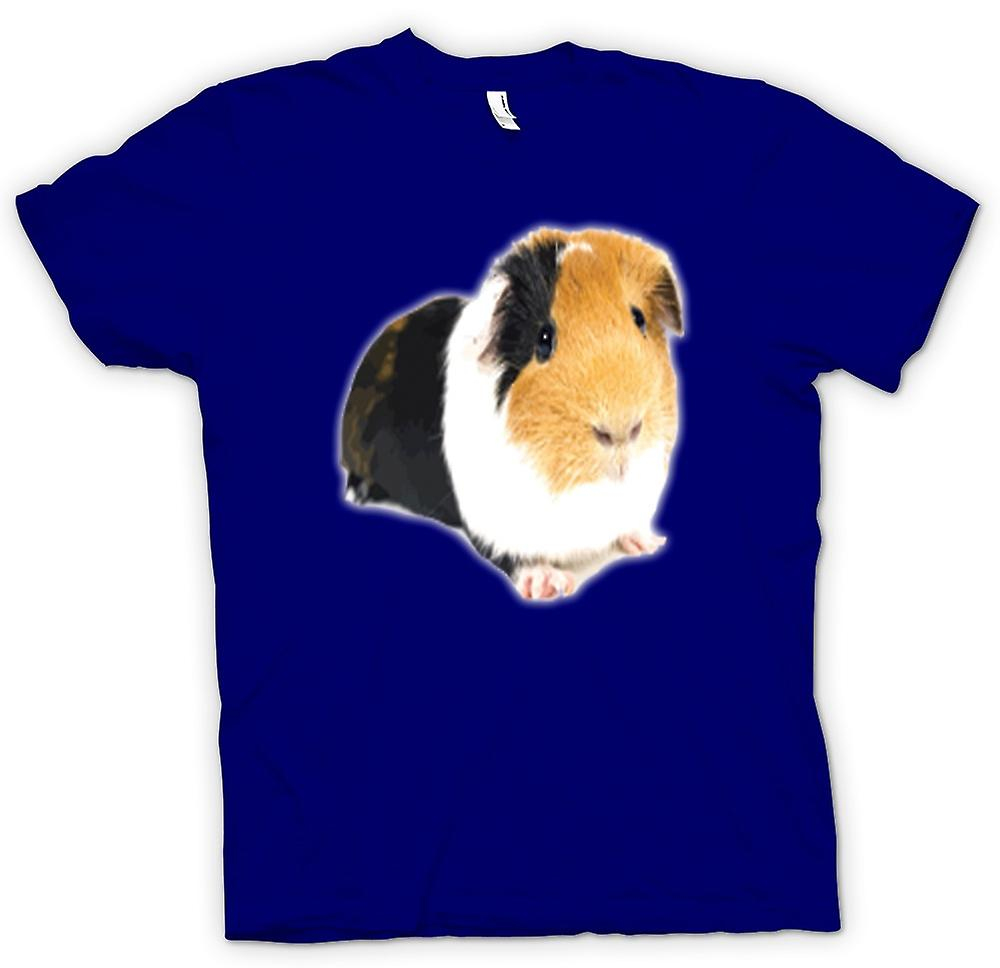 Mens t-shirt-cavia marrone e bianco
