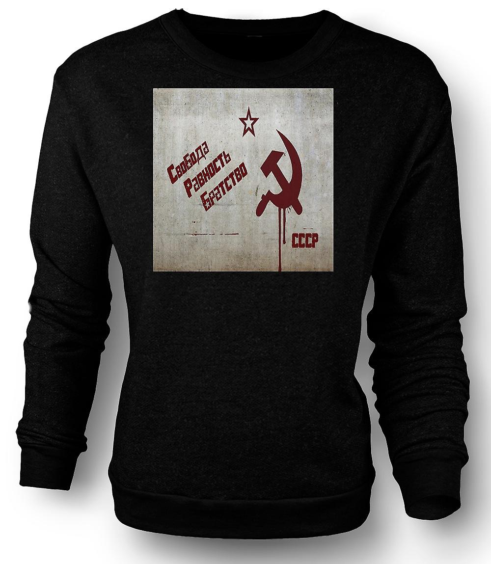 Mens Sweatshirt Sovjet-Unie - Rusland - Cool Design