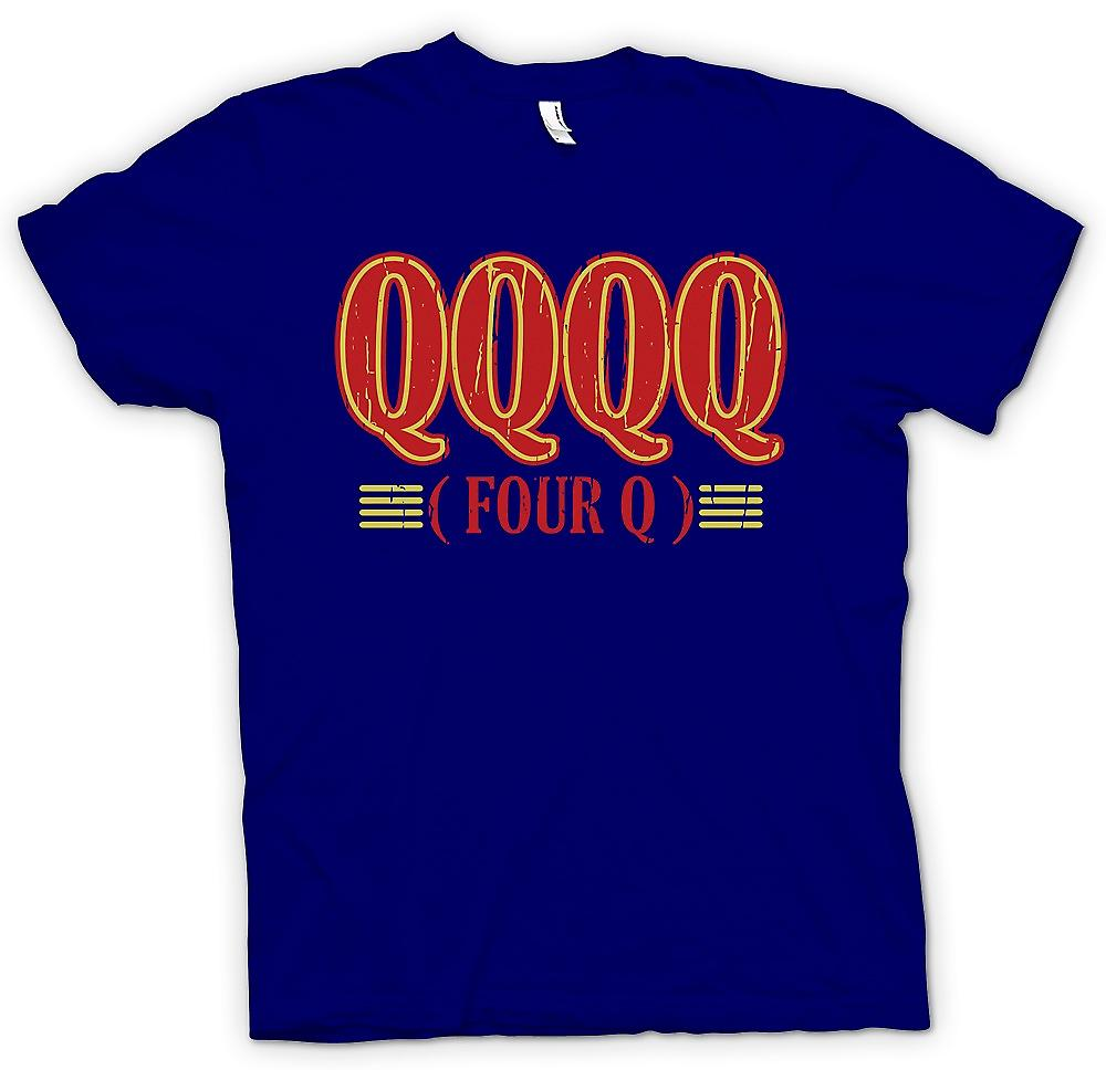 Mens T-shirt - QQQQ Four Q - Funny Crude