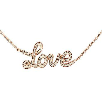 TOC Rose-Goldtone Sterling Silver LOVE Necklace 16