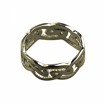 9ct Gold 8mm Celtic Wedding Ring Size R